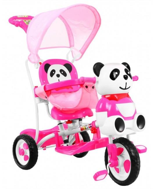Detská trojkolka Panda ružová